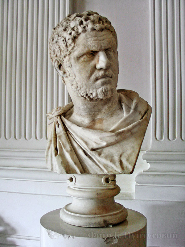 Bust of Caracalla. Marble. 211—217 CE. Gatchina, The Gatchina Palace, White hall