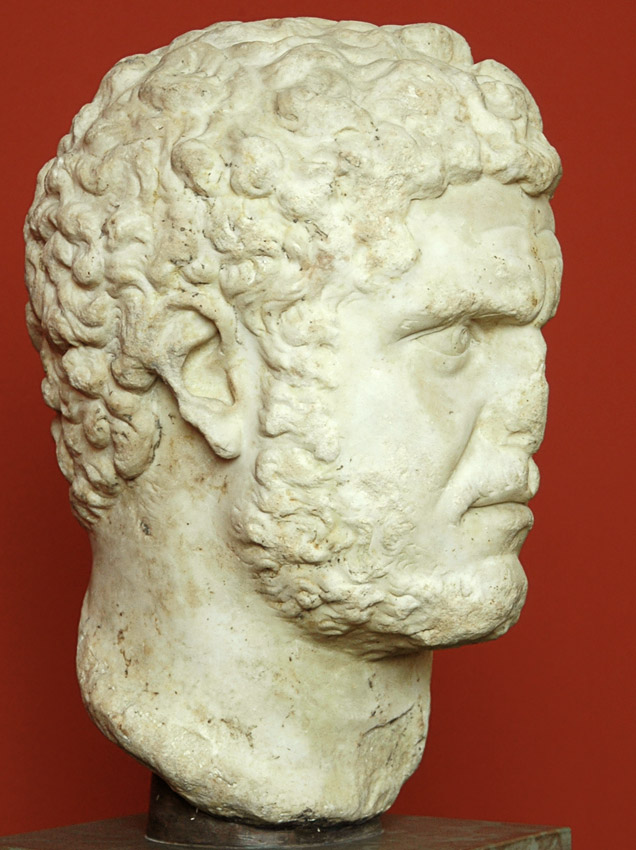 Caracalla. Marble. Ca. 212—217 CE. Height 34 cm. Inv. No. 2028. Copenhagen, New Carlsberg Glyptotek
