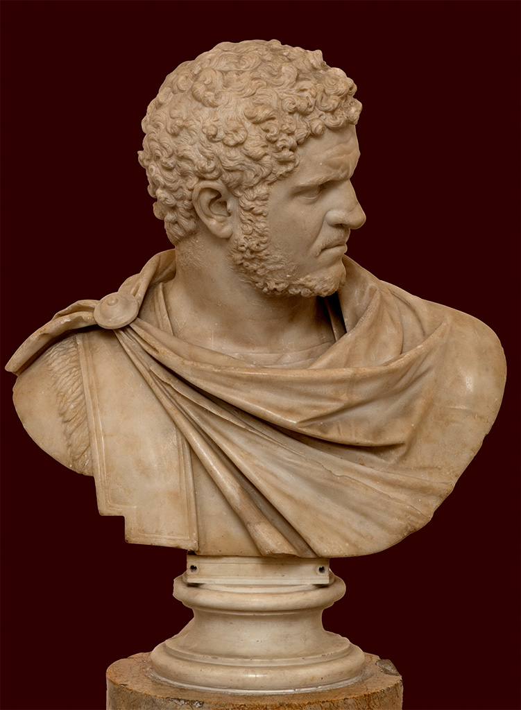 Bust of Caracalla. Marble. 212—217 CE. Inv. No. 6033. Naples, National Archaeological Museum