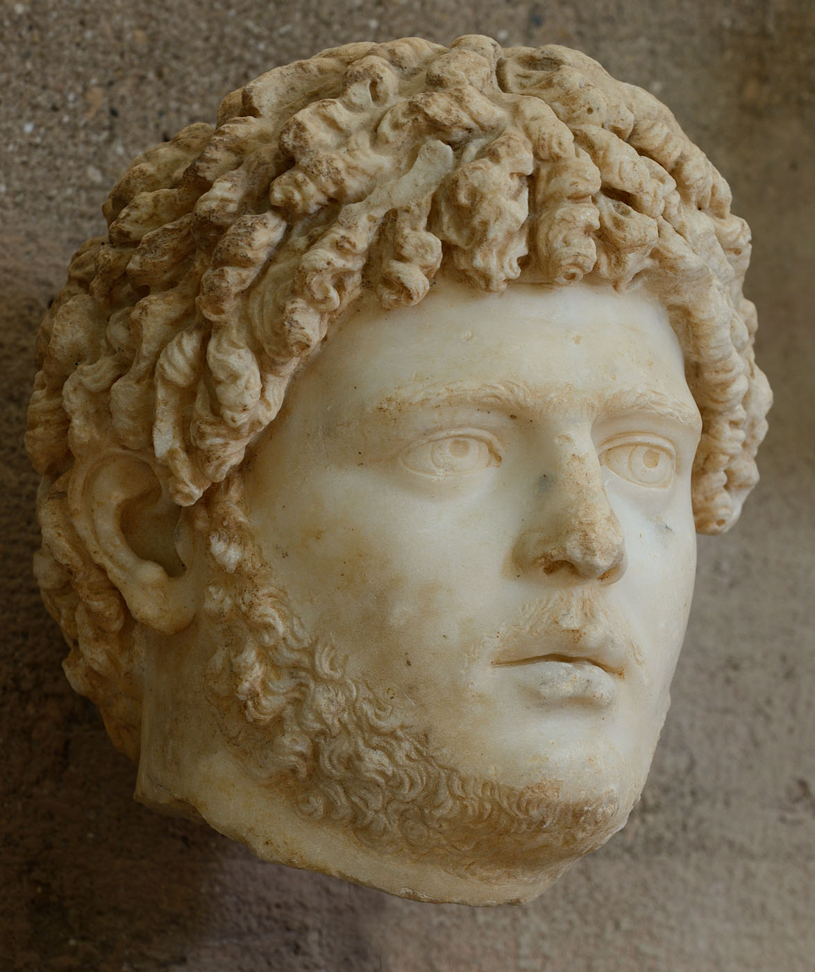 Caracalla. Marble. 211—217 CE. Inv. No.  S-1470. Corinth, Archaeological Museum of Ancient Corinth