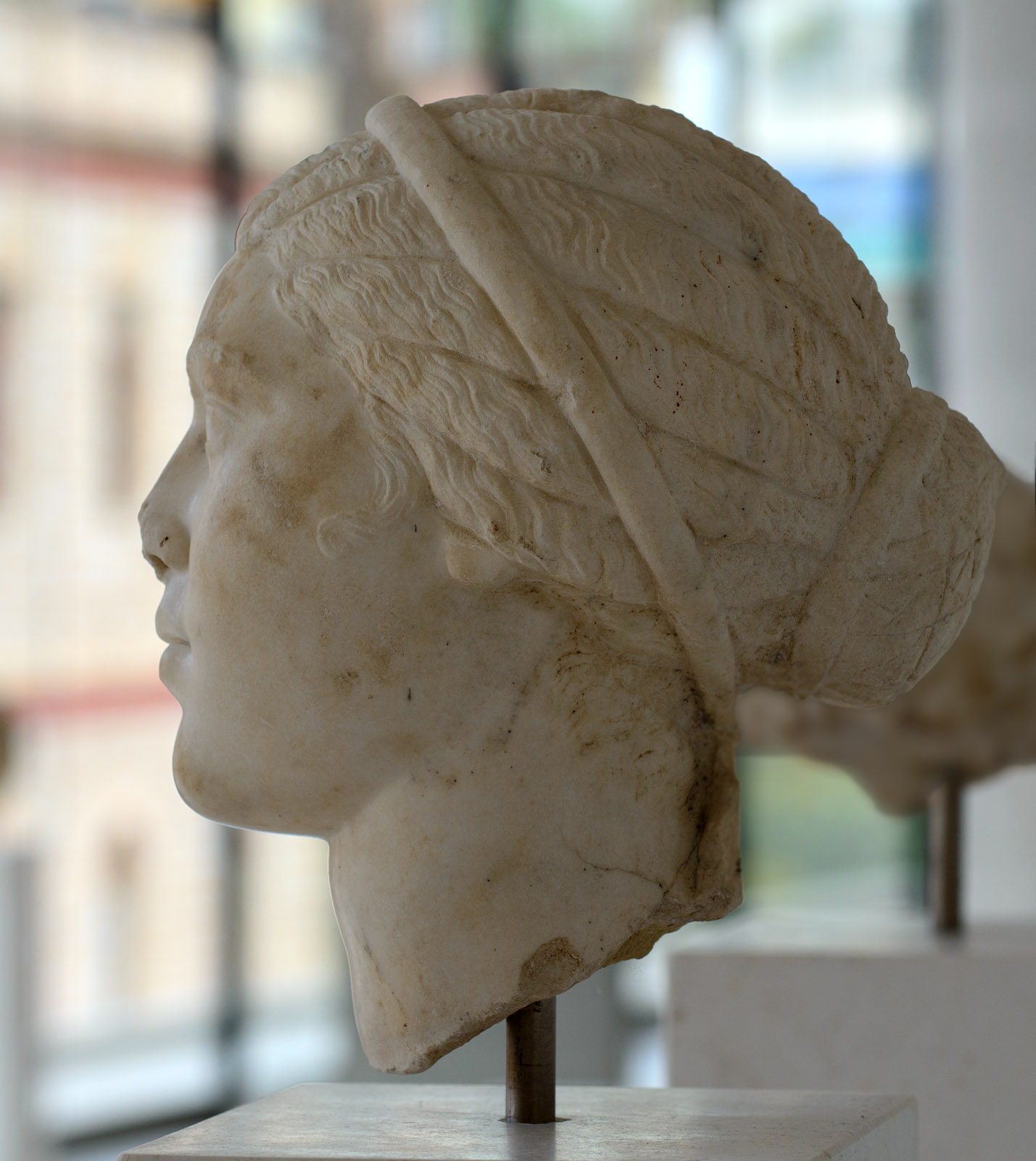 Fulvia Plautilla, wife of Caracalla. Marble. Late 2nd — early 3rd cent. CE. Inv. No. NAM 358. Athens, New Acropolis Museum