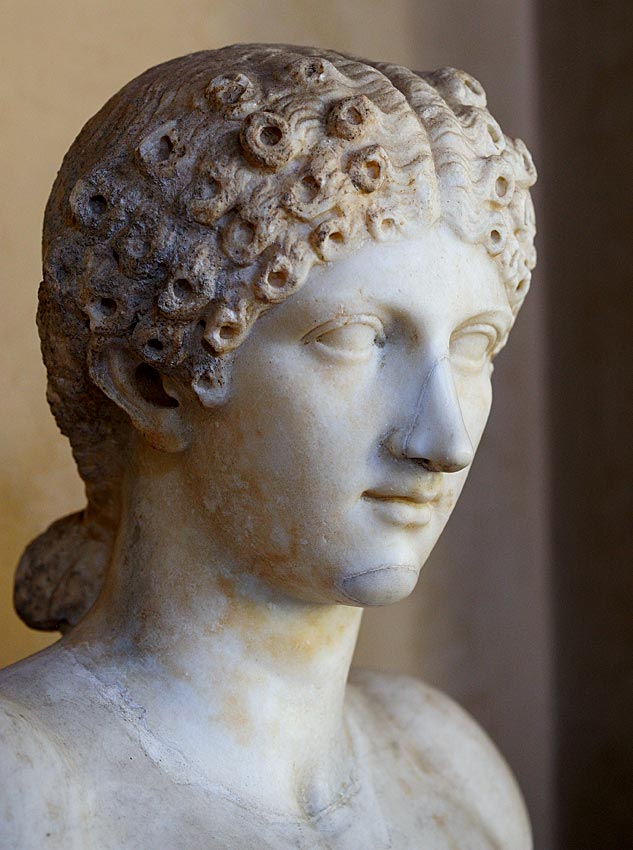 Agrippina the Younger. Luni marble. First half of the 1st century.  Inv. No. 6753. Mantua, Ducal Palace