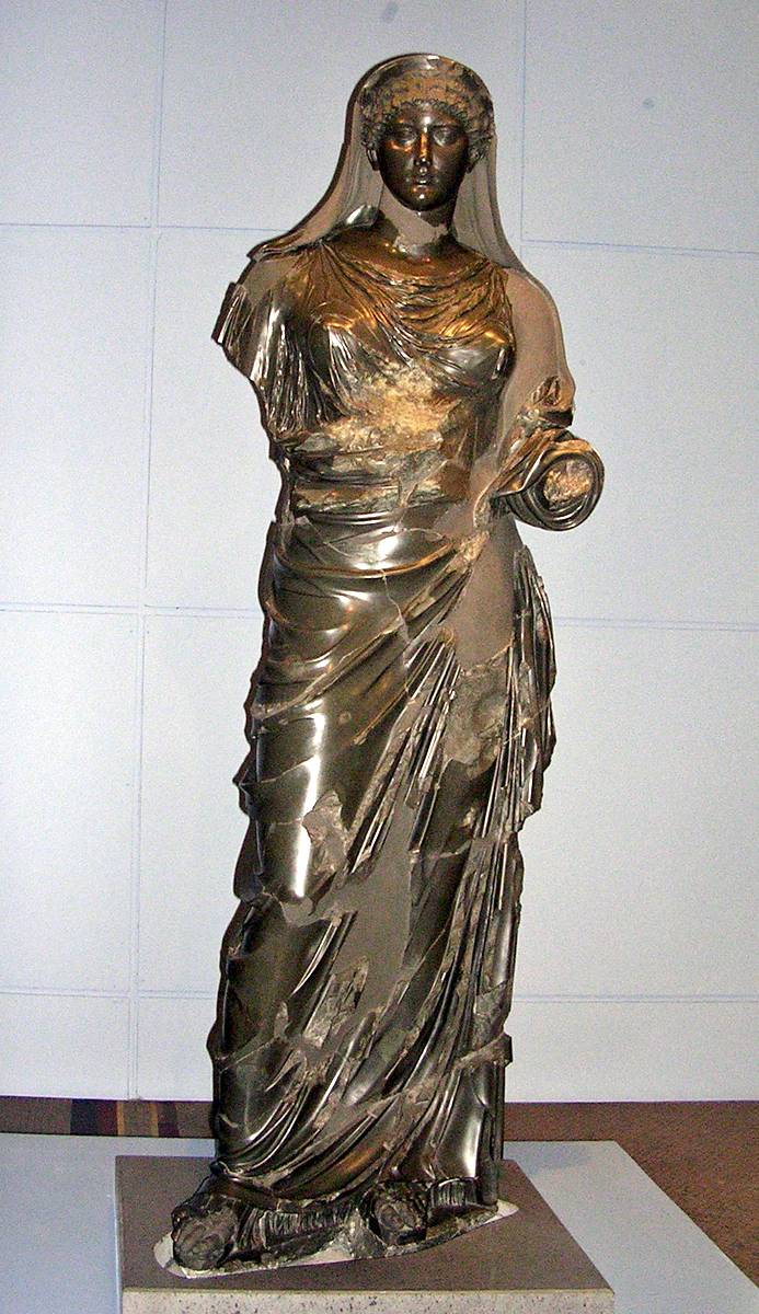 Statue of Agrippina. Basanite. 1st century CE. Inv. No. MC 1882. Rome, Capitoline Museums, Museum Montemartini (Centrale Montemartini), II. 44