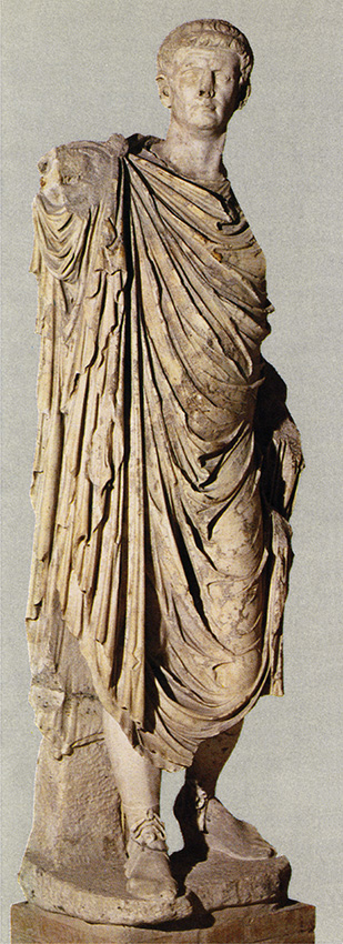 Statue of the emperor Claudius in the clothes of triumpher. Marble. Aquileia, National Archaeological Museum