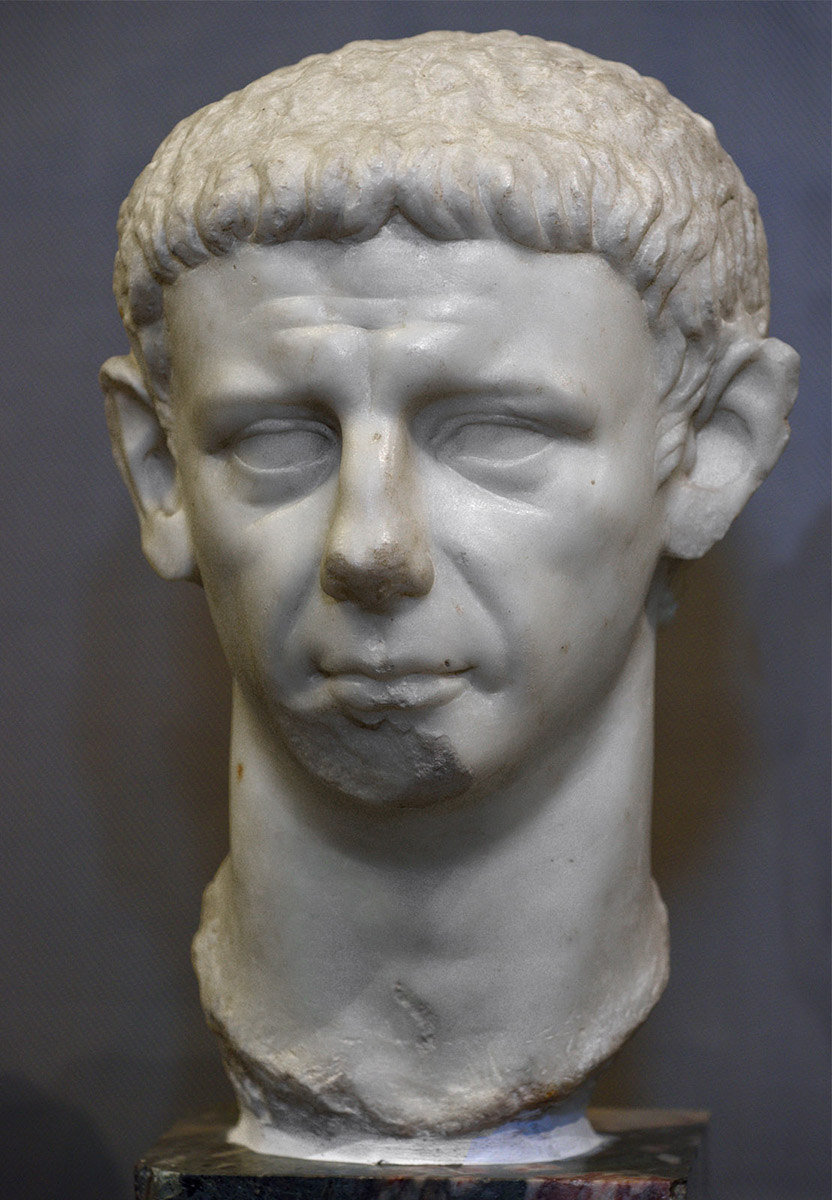 Claudius. Marble from Luni. 41—54 CE. Inv. No. MC 2443. Rome, Capitoline Museums, Museum Montemartini (Centrale Montemartini), II. 74
