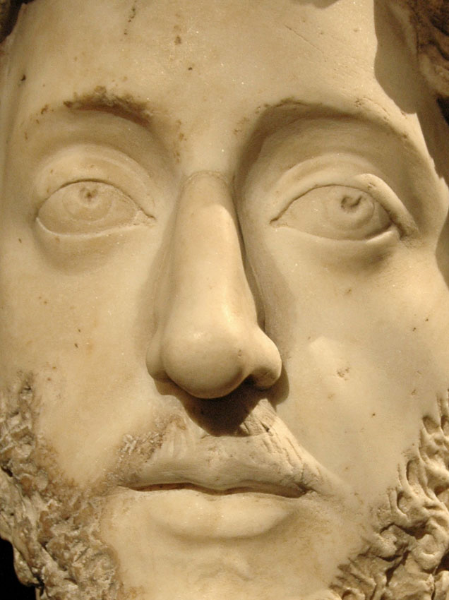 Emperor Commodus. Detail. Marble. 180—192 CE. Inv. No. I 15. Vienna, Museum of Art History, Collection of Classical Antiquities