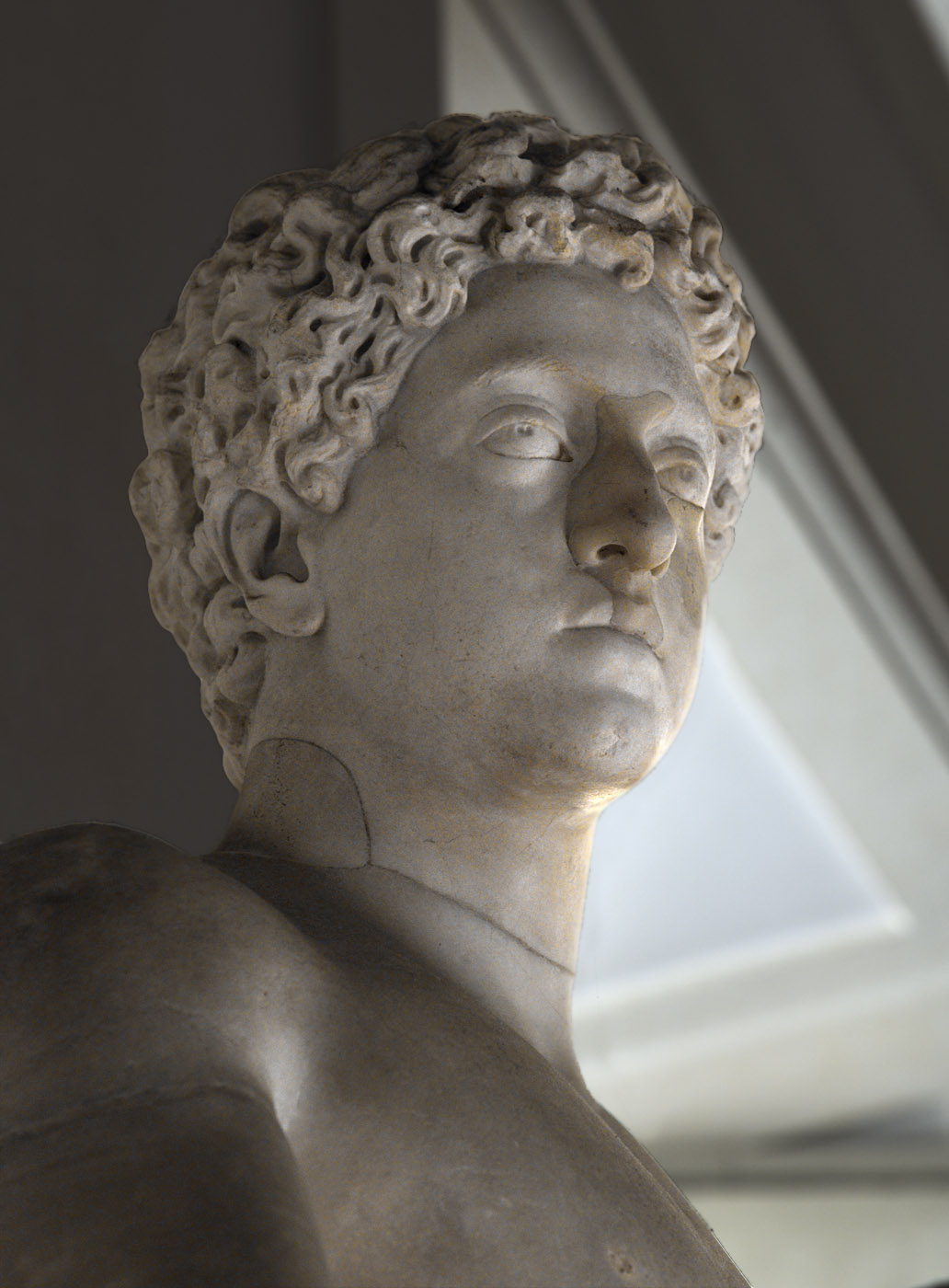 Young Commodus (close up). Marble. 175—177 CE. Rome, National Gallery of Ancient Art of Corsini Palace