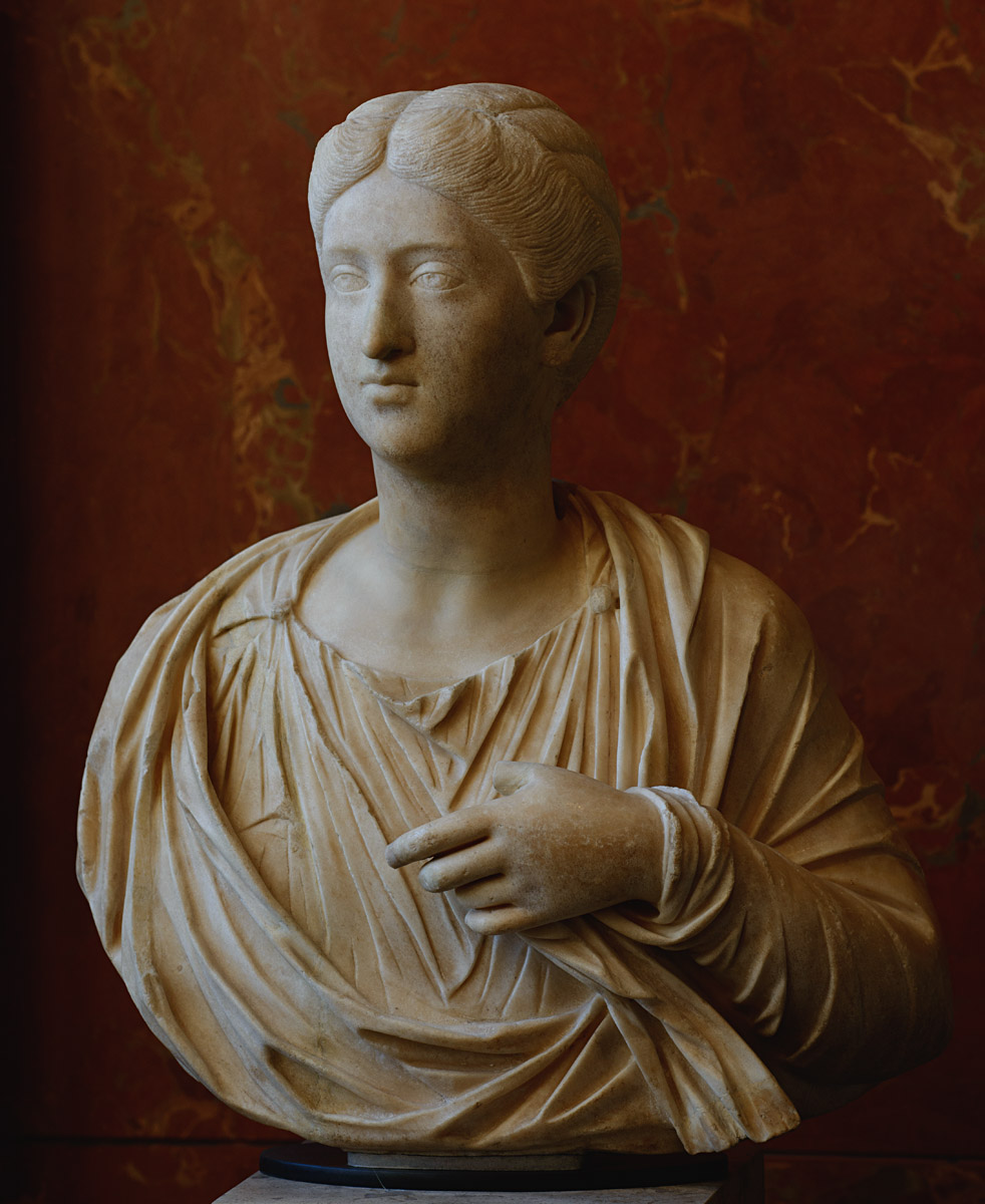 Crispina, the wife of Commodus. Marble. Ca. 178 CE. Inv. No. Cp 6439 / Ma 1138. Paris, Louvre Museum