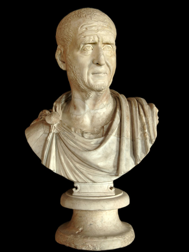 Trajan Decius. Marble. 249—251 CE. Inv. No. MC482. Rome, Capitoline Museums, Palazzo Nuovo, Hall of the Emperors