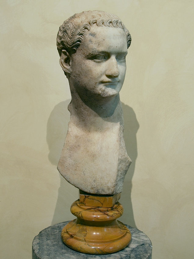 Head of Domitian. Pentelic marble. 88—96 CE. Inv. No. MC 1156. Rome, Capitoline Museums, Museum Montemartini (Centrale Montemartini), II. 76