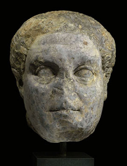Head of Domitian. Marble. Late 1st — 2nd century.  SND04. Royal-Athena Galleries
