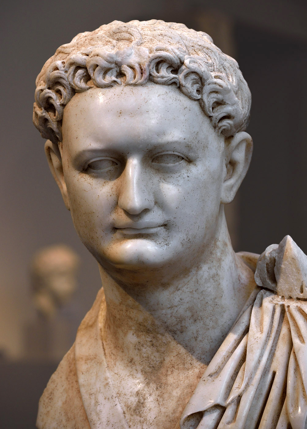 Domitian (close-up). Marble. Ca. 90 CE. Inv. No. I.2015.40. New York, the Metropolitan Museum of Art