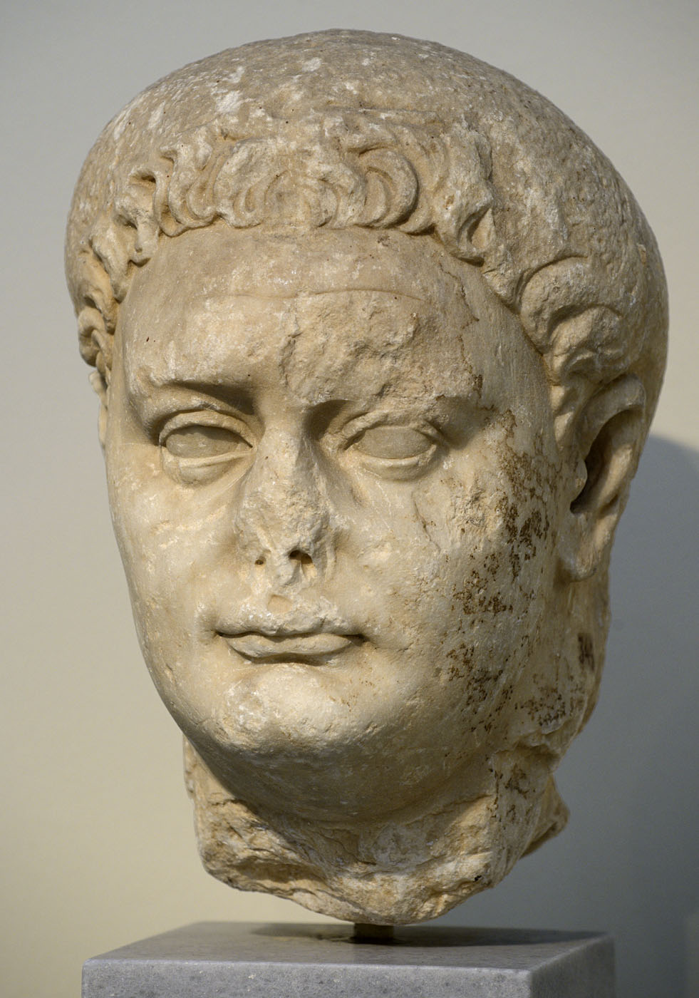 Portrait head of Domitian. Pentelic marble. 81-96 CE. Inv. No. 345. Athens, National Archaeological Museum