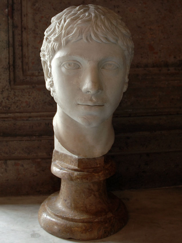 Elagabalus. Marble. Ca. 221 CE.  Inv. No. MC470. Rome, Capitoline Museums, Palazzo Nuovo, Hall of the Emperors