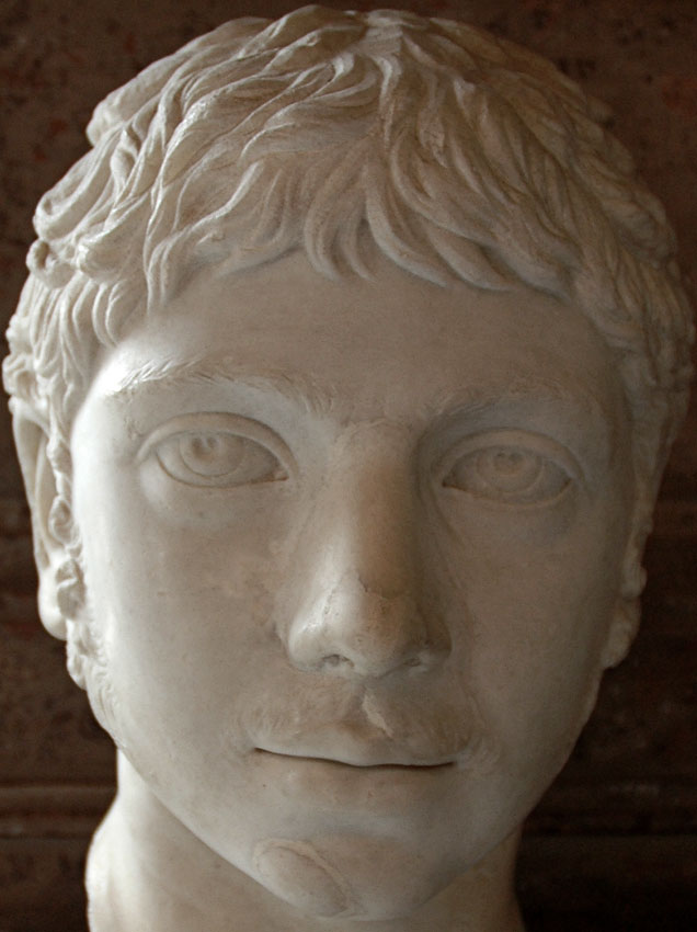 Elagabalus. Detail. Marble. Ca. 221 CE. Inv. No. MC470. Rome, Capitoline Museums, Palazzo Nuovo, Hall of the Emperors