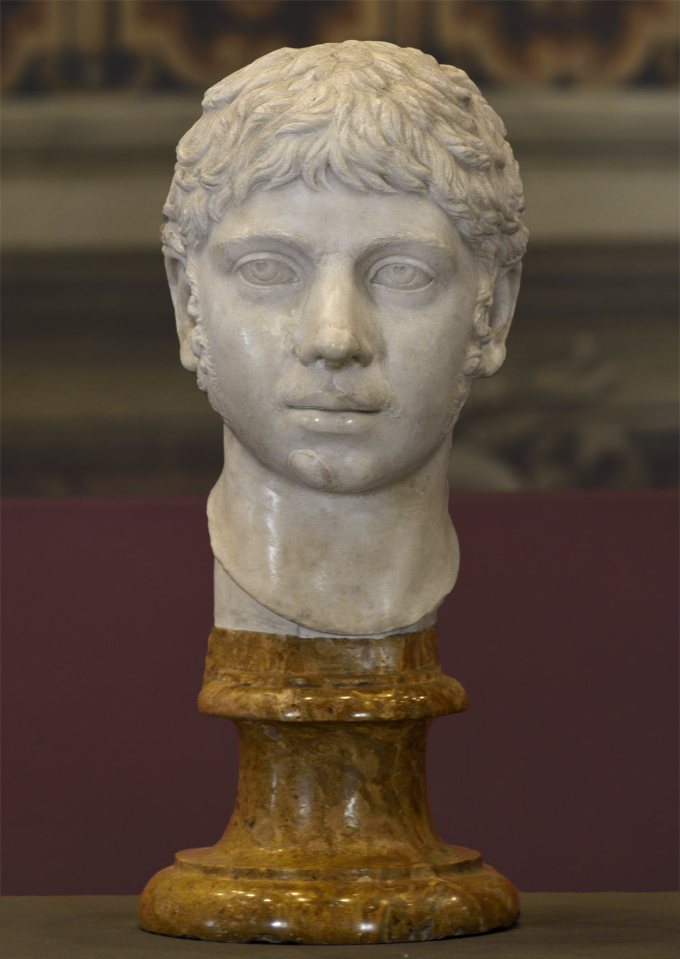 Elagabalus. Marble. 220—221 CE.  Inv. No. MC470. Rome, Capitoline Museums, Palazzo Nuovo, Hall of the Emperors