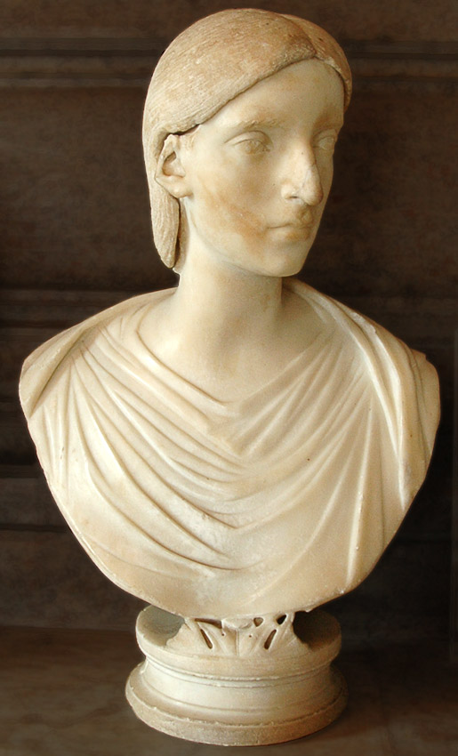 Female portrait. (Salonina, the wife of Gallienus?) Marble. First half of the 3rd century. Inv. No. MC488. Rome, Capitoline Museums, Palazzo Nuovo, Hall of the Emperors