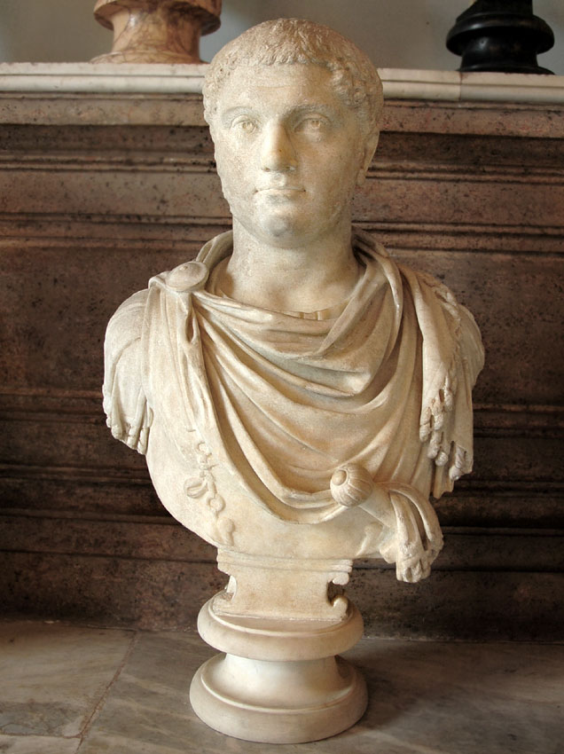 Portrait of Geta. Marble. Ca. 208 CE. Height 78 cm. Inv. No. MC468. Rome, Capitoline Museums, Palazzo Nuovo, Hall of the Emperors