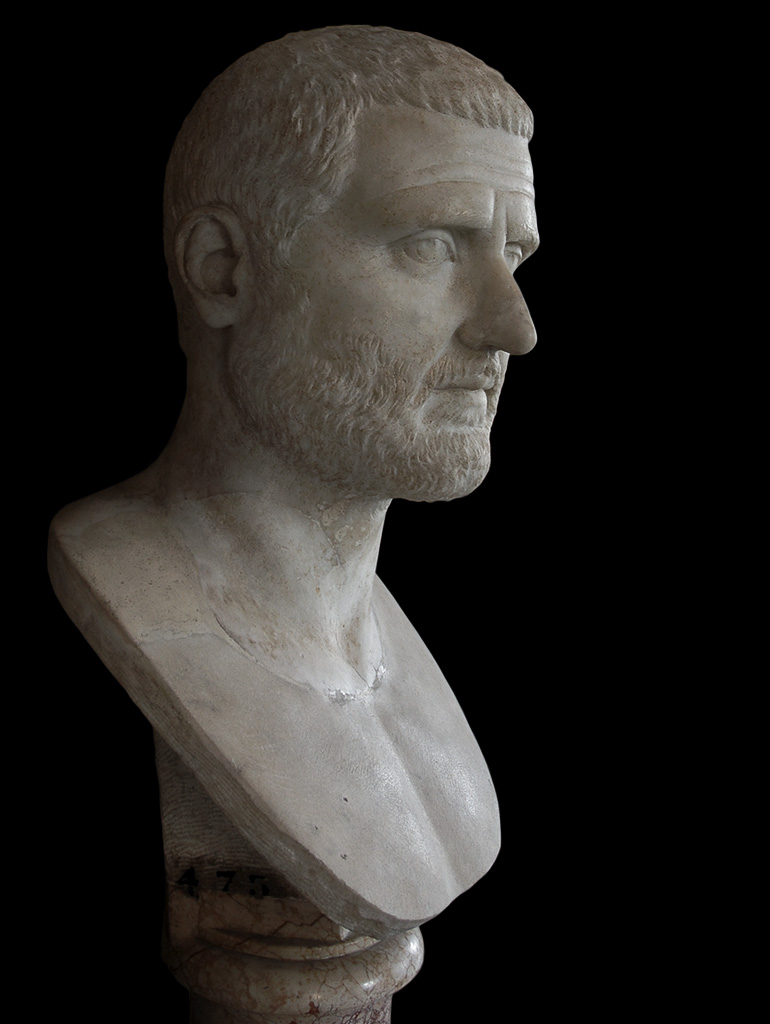 Gordian I. Marble. 238 CE. Inv. No. MC475. Rome, Capitoline Museums, Palazzo Nuovo, Hall of the Emperors