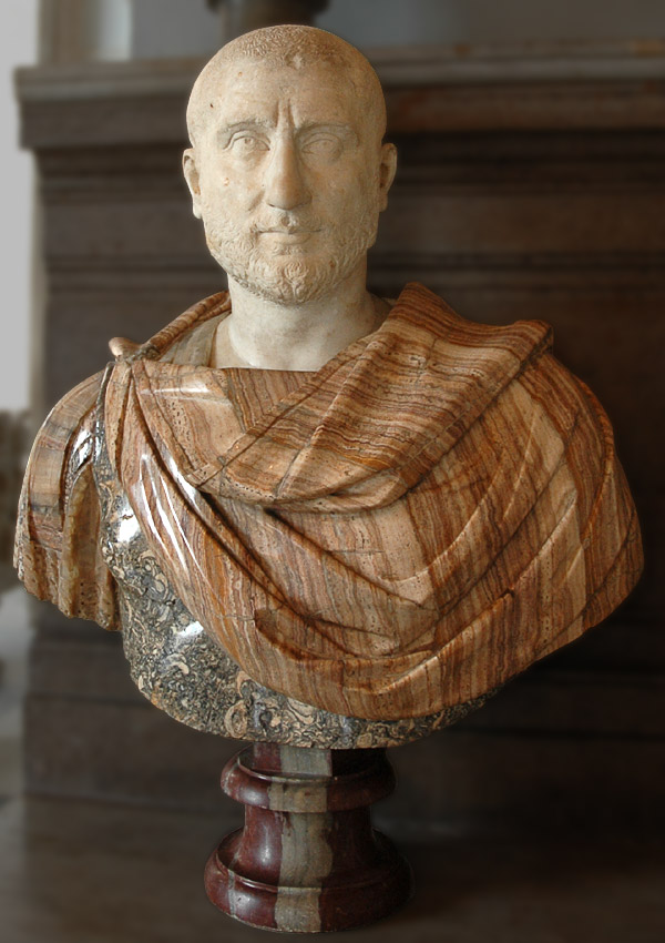 Bust of a man. (Gordian II?) Marble. 230 CE. Inv. No. MC476. Rome, Capitoline Museums, Palazzo Nuovo, Hall of the Emperors