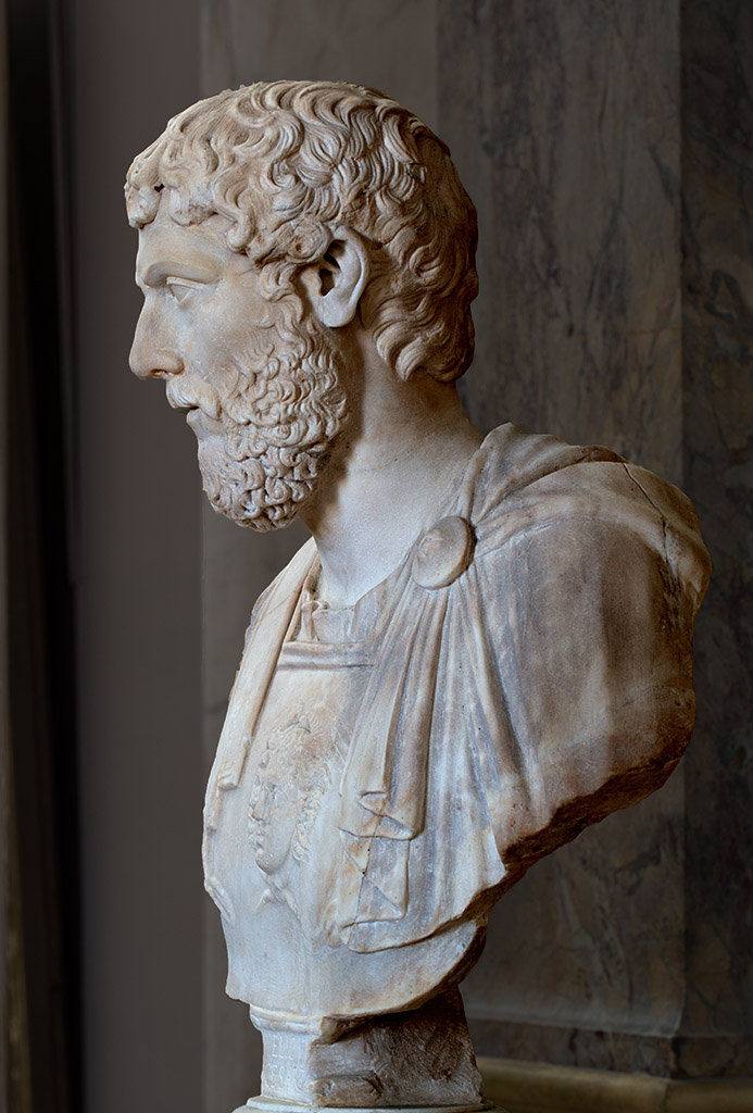 Aelius Caesar, the adopted son of Hadrian. Marble. 136—138 CE. Inv. No. Ma 455. Paris, Louvre Museum