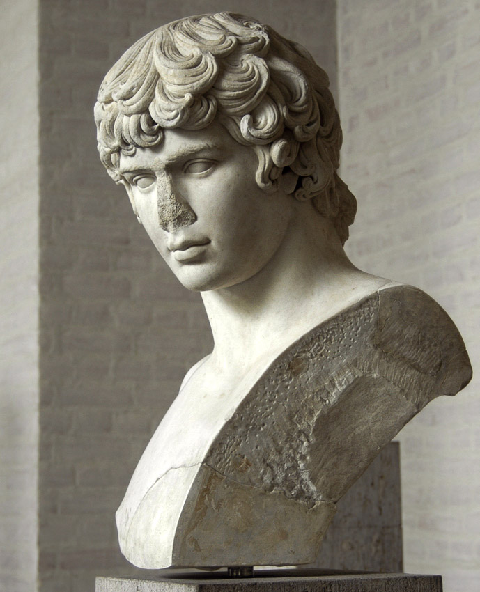 Bust of Antinous. Marble. 130—135 CE. Inv. No. 400. Munich, Glyptotek
