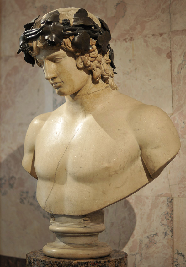 Portrait of Antinous. Marble. About the middle of 2nd century. Inv. No. A431. Saint Petersburg, The State Hermitage Museum