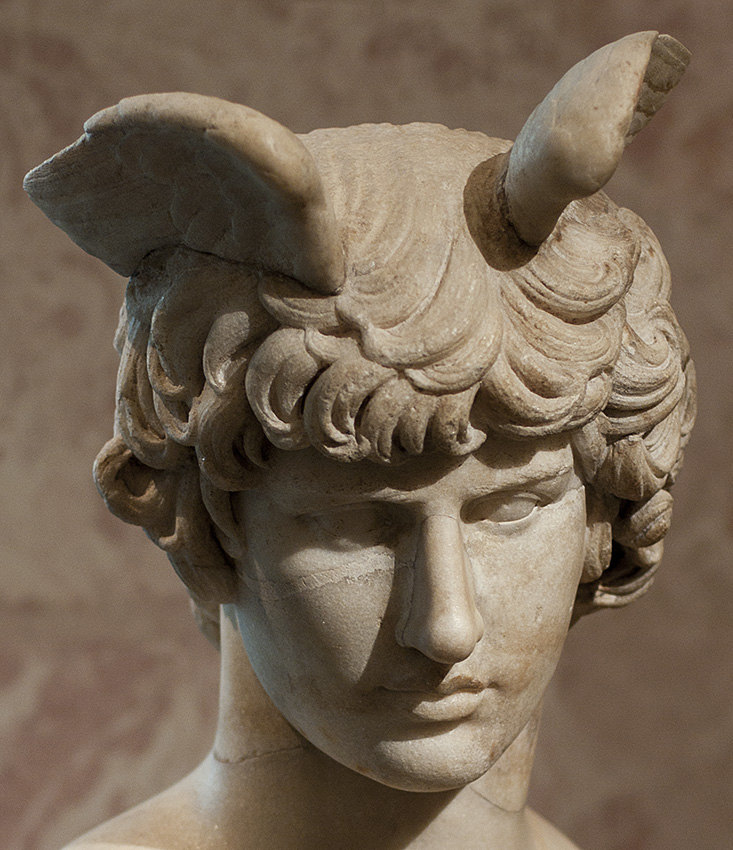 Portrait of Antinous. Marble. Ca. mid-2nd century. Inv. No. A30. Saint Petersburg, The State Hermitage Museum