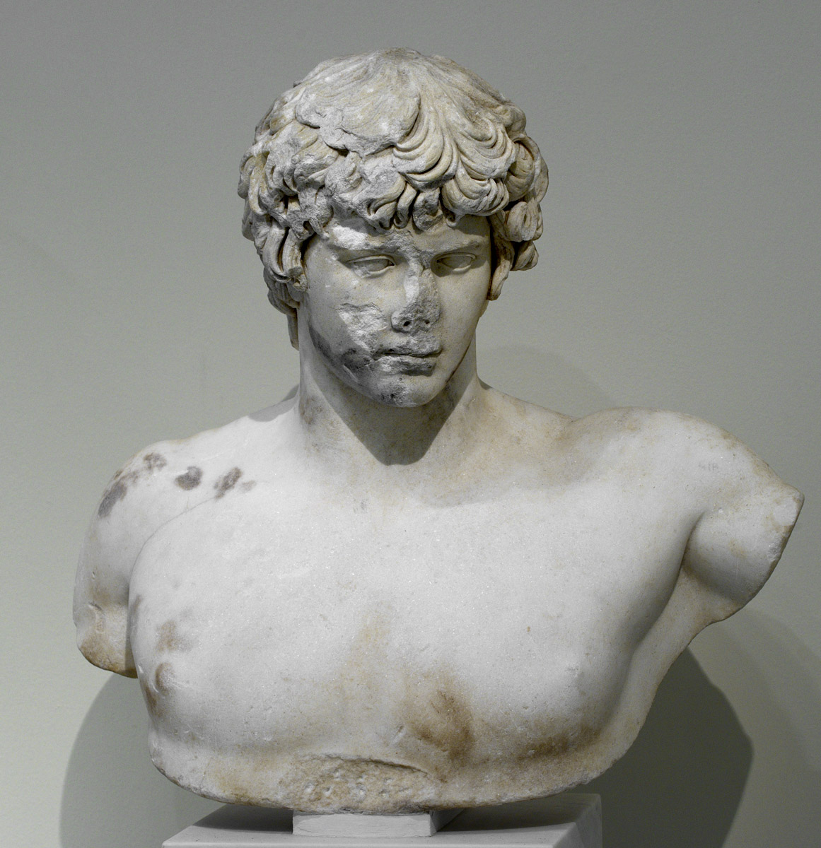 Portrait bust of Antinous. Marble. 130—138 CE. Inv. No. 417. Athens, National Archaeological Museum