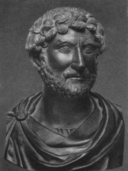 Bust of Hadrian. Basalt. 120s CE. Berlin, State Museums