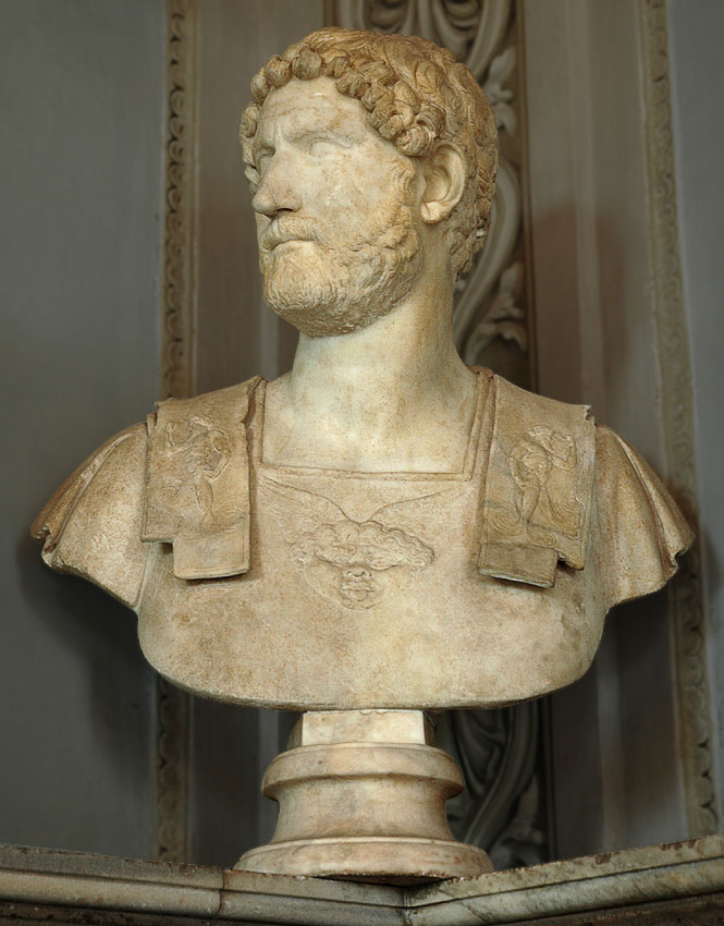 Bust of Hadrian. Marble. 2nd century. Inv. No. MC443. Rome, Capitoline Museums, Palazzo Nuovo, Hall of the Emperors