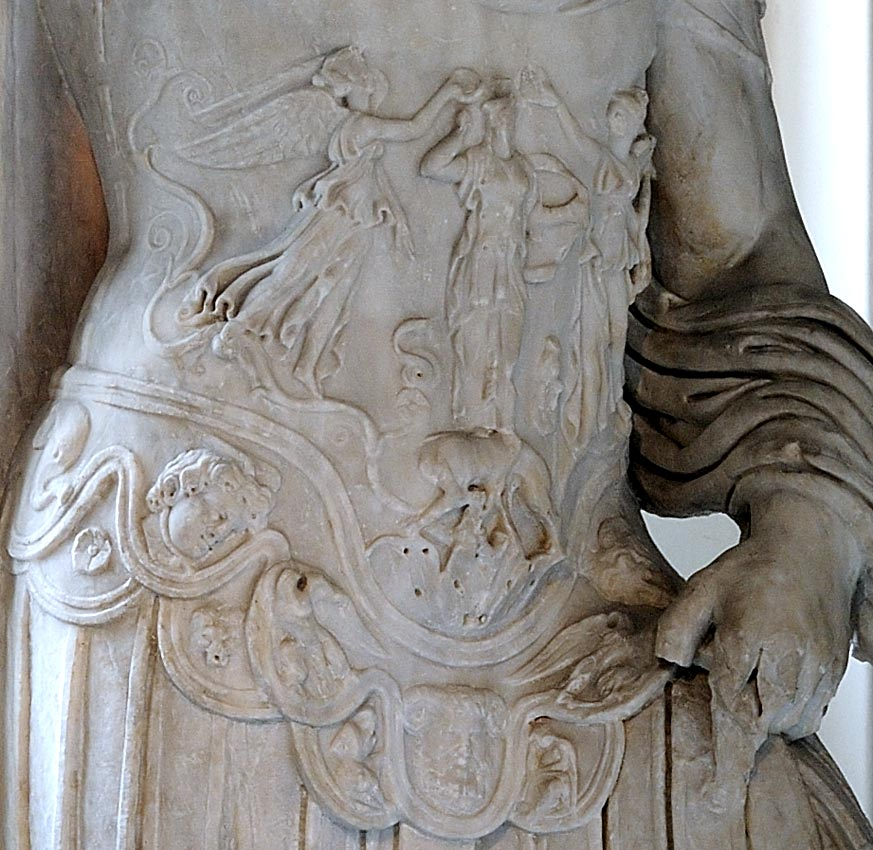 Hadrian. Detail. Marble. Ca. 117—138 CE. Inv. 50 T (Cat. Mendel 585). Istanbul, Archaeological Museum