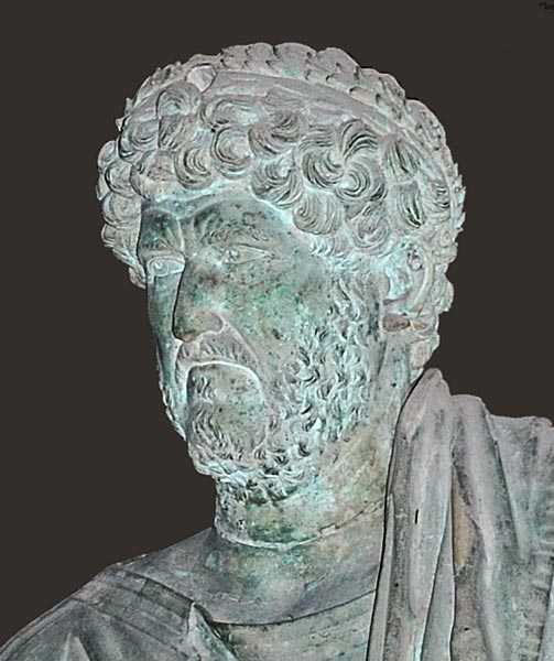 Hadrian. Detail. Bronze. Ca. 117—138 CE. Istanbul, Archaeological Museum