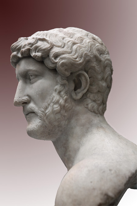 Portrait of the emperor Hadrian. Marble. First half of the 1st century CE. Inv. No. 1805.7-3.94. London, The British Museum