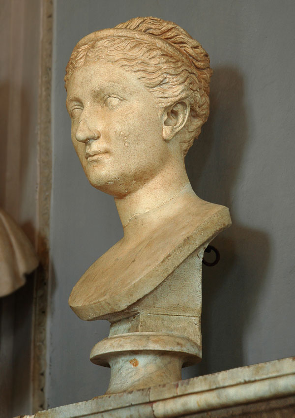 Bust of Sabina. Marble. 128—138 CE. Inv. No. MC338. Rome, Capitoline Museums, Palazzo Nuovo, Hall of the Emperors