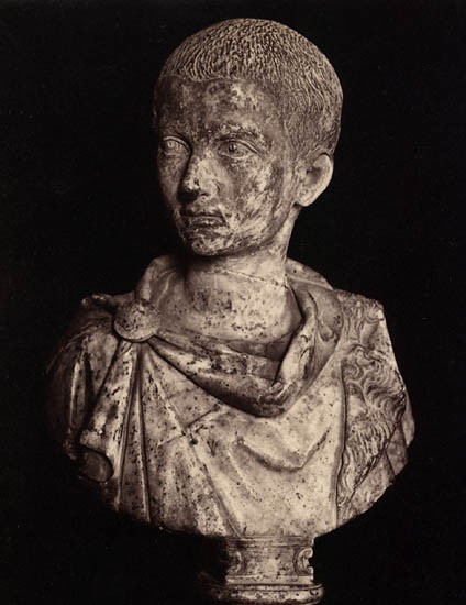 Hostilian, the younger son of Trajan Decius. Marble. Rome, Capitoline Museums