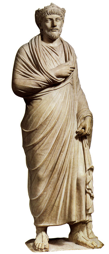 Statue of Julian the Apostate. Marble. 361—363. Paris, Louvre Museum