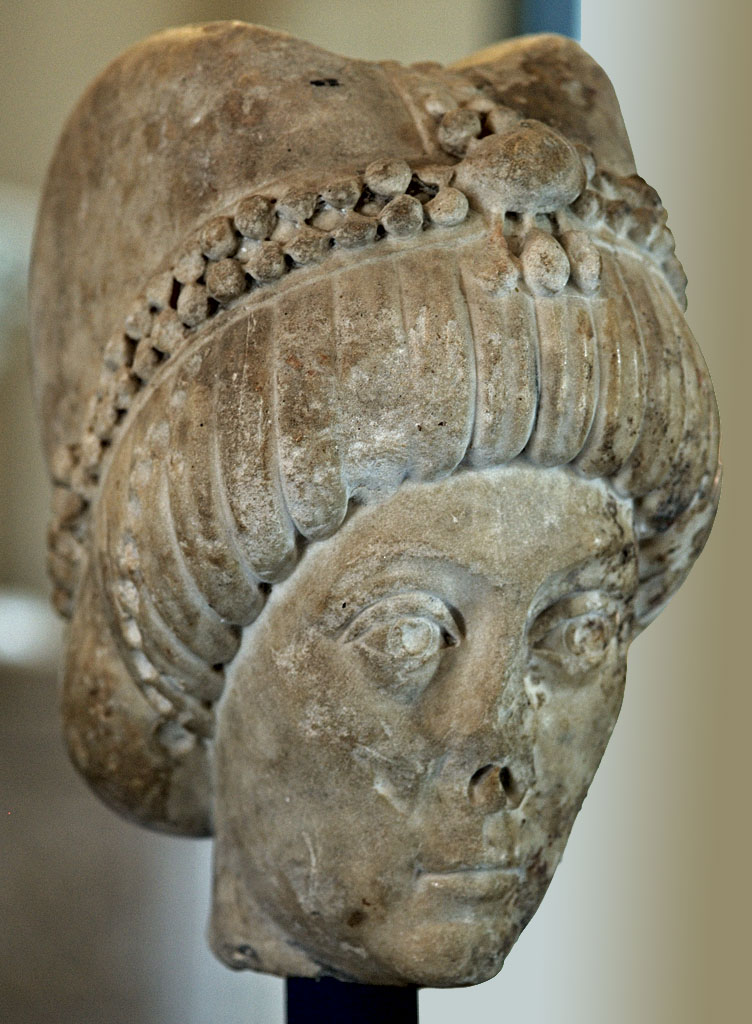 Empress Theodora, wife of Justinian I (presumably). Marble. 6th cent. CE. Inv. No. 755. Milan, Museums of Castello Sforzesco