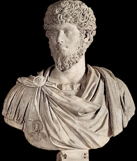 Lucius Verus, the adoptee of Antoninus Pius. Marble. 2nd century. Rome, Capitoline Museums, Palazzo Nuovo, Hall of the Emperors