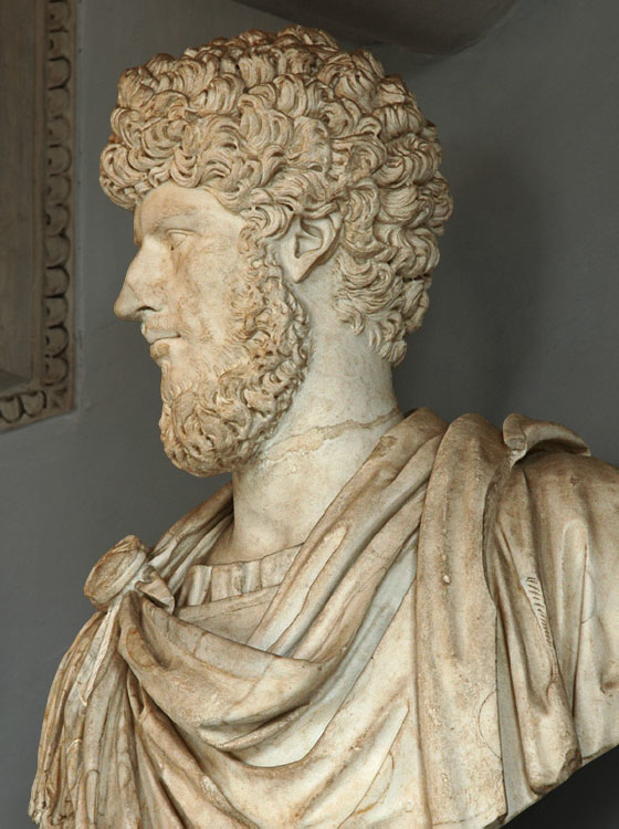 Lucius Verus. Marble. 161—169 CE. Inv. No. MC452. Rome, Capitoline Museums, Palazzo Nuovo, Hall of the Emperors