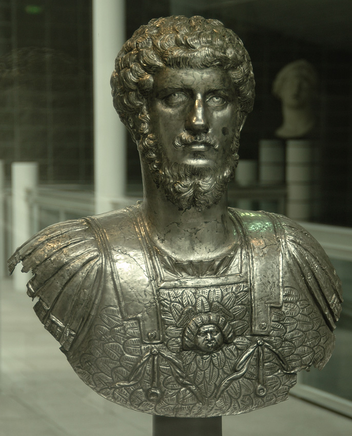 Portrait bust of Lucius Verus from Marengo. Silver. 150—160s CE. Inv. No. 5456. Turin, Museum of Antiquities