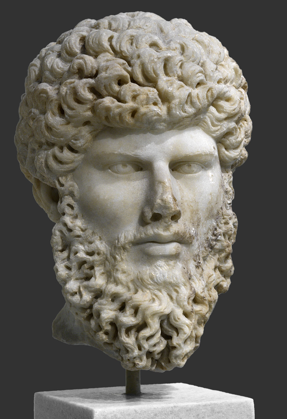 Lucius Verus. Pentelic marble. 161—169 CE. Inv. No. 3740. Athens, National Archaeological Museum
