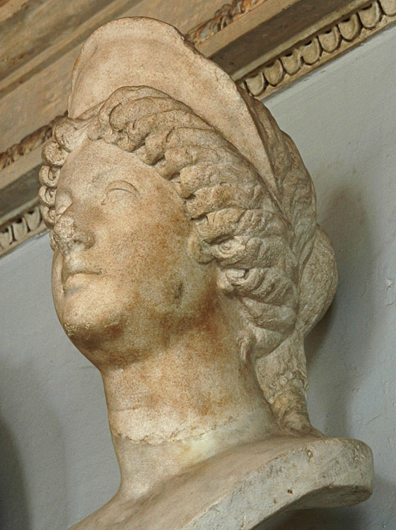 Faustina the Younger. Marble. 165—180 CE. Inv. No. MC310. Rome, Capitoline Museums, Palazzo Nuovo, Hall of the Emperors
