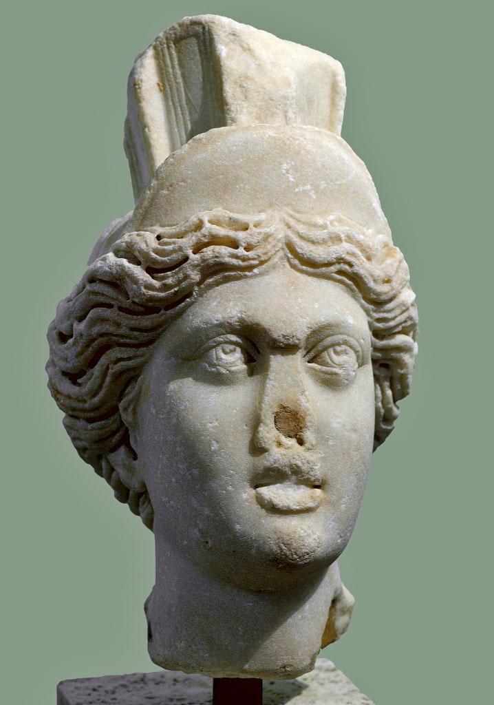 Faustina the Younger as Tyche. Fine-grain marble. 165—180 CE. Inv. No. A 0.9.1405. Milan, Civic Archaeological Museum