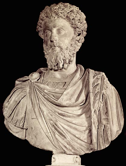 Mature Marcus Aurelius. Marble. 2nd century. Rome, Capitoline Museums, Palazzo Nuovo, Hall of the Emperors
