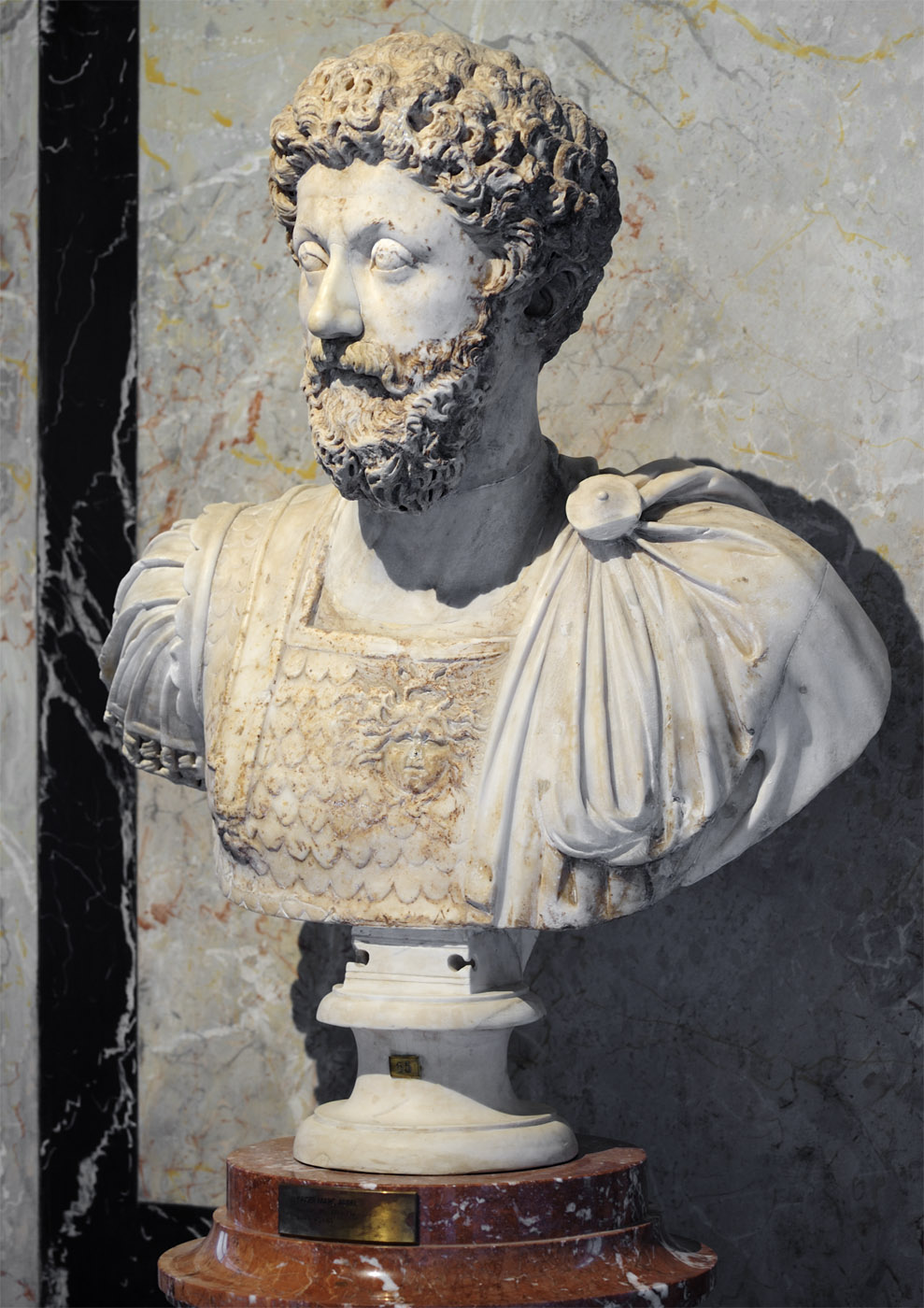 Marcus Aurelius. Marble. 170—180 CE. Roman workshop. Inv. No. AS I 65. Vienna, Museum of Art History, Collection of Classical Antiquities