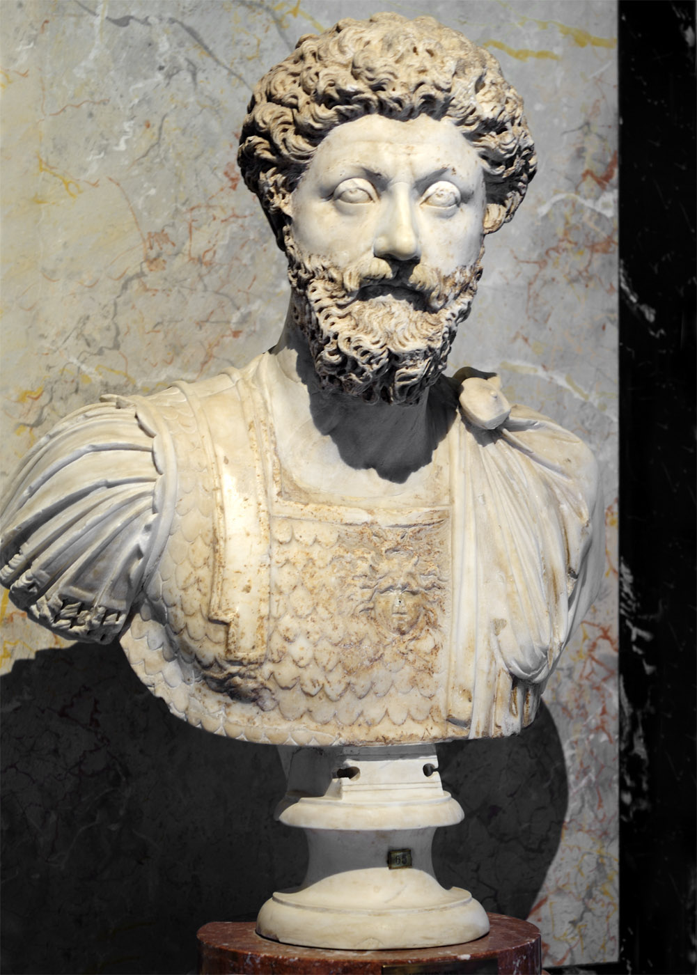 Marcus Aurelius. Marble. 170—180 CE. Roman work. Inv. No. AS I 65. Vienna, Museum of Art History, Collection of Classical Antiquities