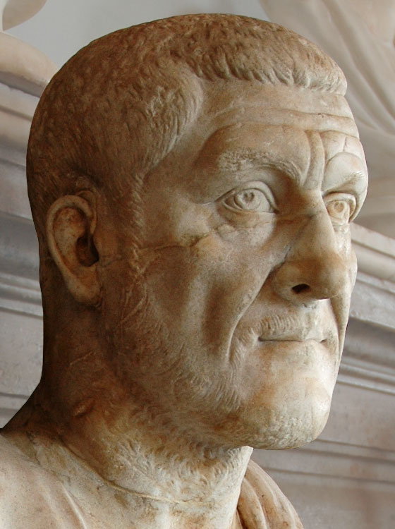 Maximinus Thrax. Marble. 235—238 CE. Inv. No. MC473. Rome, Capitoline Museums, Palazzo Nuovo, Hall of the Emperors