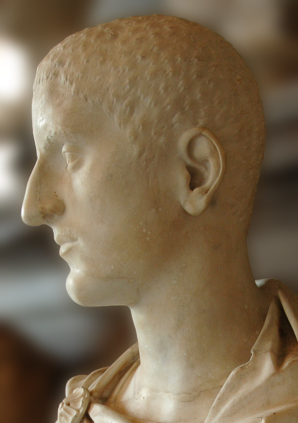 Bust of a man. (Maximus?) Marble. 225—238 CE. Inv. No. MC474. Rome, Capitoline Museums, Palazzo Nuovo, Hall of the Emperors