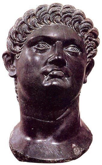 Head of the emperor Nero. 1st century. Florence, Gallery of Uffizi